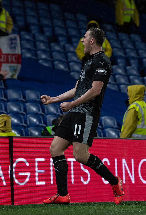 Burnley's Chris Wood celebrates scoring his side's second goal <br /> <br /> Photographer David Horton/CameraSport<br /> <br /> The Premier League - Brighton and Hove Albion v Burnley - Saturday 9th February 2019 - The Amex Stadium - Brighton<br /> <br /> World Copyright © 2019 CameraSport. All rights reserved. 43 Linden Ave. Countesthorpe. Leicester. England. LE8 5PG - Tel: +44 (0) 116 277 4147 - admin@camerasport.com - www.camerasport.com