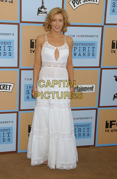 FELICITY HUFFMAN.21st IFP Independent Spirit Awards held at .Santa Monica Beach, Santa Monica,.California, USA, 04 March 2006..full length long white dress peep hole summery lace tiered.Ref: ADM/LF.www.capitalpictures.com.sales@capitalpictures.com.© Capital Pictures.