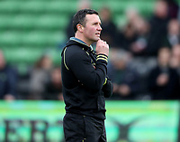 Leicester Tigers' Director of Rugby Aaron Mauger<br /> <br /> Photographer Rachel Holborn/CameraSport<br /> <br /> Anglo-Welsh Cup Final - Exeter Chiefs v Leicester Tigers - Sunday 19th March 2017 - The Stoop - London<br /> <br /> World Copyright &copy; 2017 CameraSport. All rights reserved. 43 Linden Ave. Countesthorpe. Leicester. England. LE8 5PG - Tel: +44 (0) 116 277 4147 - admin@camerasport.com - www.camerasport.com