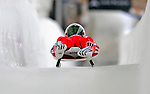 7 February 2009: Stefan Hohener slides for Switzerland in the Men's Competition at the 41st FIL Luge World Championships, in Lake Placid, New York, USA. .  .Mandatory Photo Credit: Ed Wolfstein Photo
