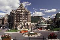 AJ3633, Banff National Park, Banff, Alberta, Canada, Canadian Rockies, Rocky Mountains, Banff Springs Hotel in Banff in Banff National Park in the province of Alberta.