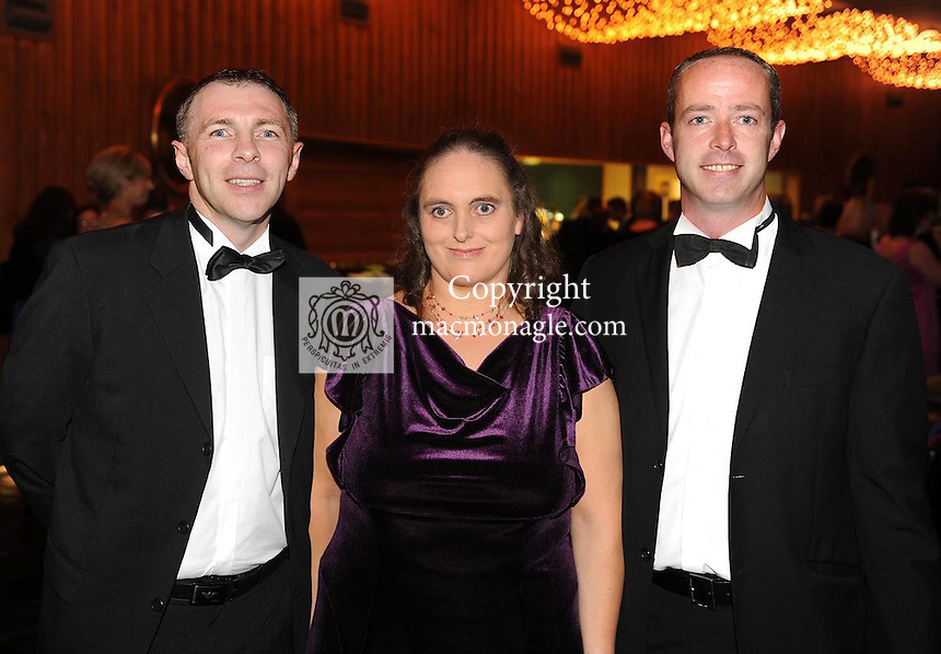 Paudie Healy, Kerry Stars Chairman, Jane Curran and Aidan O'Connor  at the Kerry  Stars Black Tie Ball  in The Malton Hotel, Killarney  on Saturday night. Picture: Eamonn Keogh ( MacMonagle, Killarney)