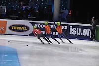SHORTTRACK: DORDRECHT: Sportboulevard Dordrecht, 24-01-2015, ISU EK Shorttrack, Daan BREEUWSMA (NED | #49), Sjinkie KNEGT (NED | #51), ©foto Martin de Jong
