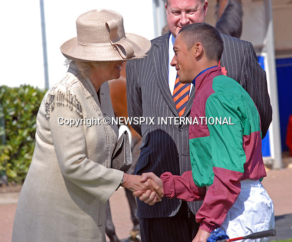 """CAMILLA, DUCHESS OF CORNWALL AND FRANKIE DETTORI.Camilla opened the Duchess' stand (new Grandstand) at the Spring meeting at Epsom Downs_22/04/2009.Mandatory Photo Credit: ©Dias/Newspix International..**ALL FEES PAYABLE TO: """"NEWSPIX INTERNATIONAL""""**..PHOTO CREDIT MANDATORY!!: NEWSPIX INTERNATIONAL(Failure to credit will incur a surcharge of 100% of reproduction fees)..IMMEDIATE CONFIRMATION OF USAGE REQUIRED:.Newspix International, 31 Chinnery Hill, Bishop's Stortford, ENGLAND CM23 3PS.Tel:+441279 324672  ; Fax: +441279656877.Mobile:  0777568 1153.e-mail: info@newspixinternational.co.uk"""