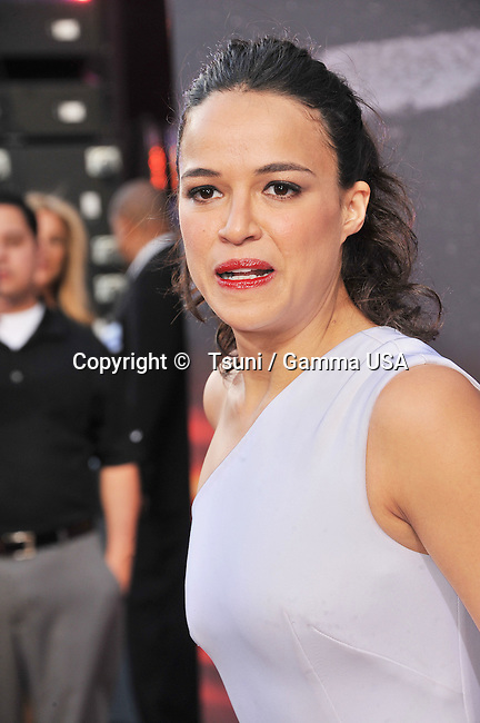 Michelle Rodriguez  at the Fast And Furious 6 Premiere at the Universal Amphitheatre in Los Angeles.