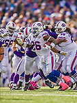 19 October 2014: Buffalo Bills running back Anthony Dixon rushes for first down yardage in the third quarter against the Minnesota Vikings at Ralph Wilson Stadium in Orchard Park, NY. The Bills defeated the Vikings 17-16 in a dramatic, last minute, comeback touchdown drive. Mandatory Credit: Ed Wolfstein Photo *** RAW (NEF) Image File Available ***