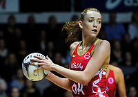 England goal attack Helen Housby in action during the Quad Series netball match between the New Zealand Silver Ferns and England Roses at Trusts Stadium, Auckland, New Zealand on Wednesday, 30 August 2017. Photo: Dave Lintott / lintottphoto.co.nz