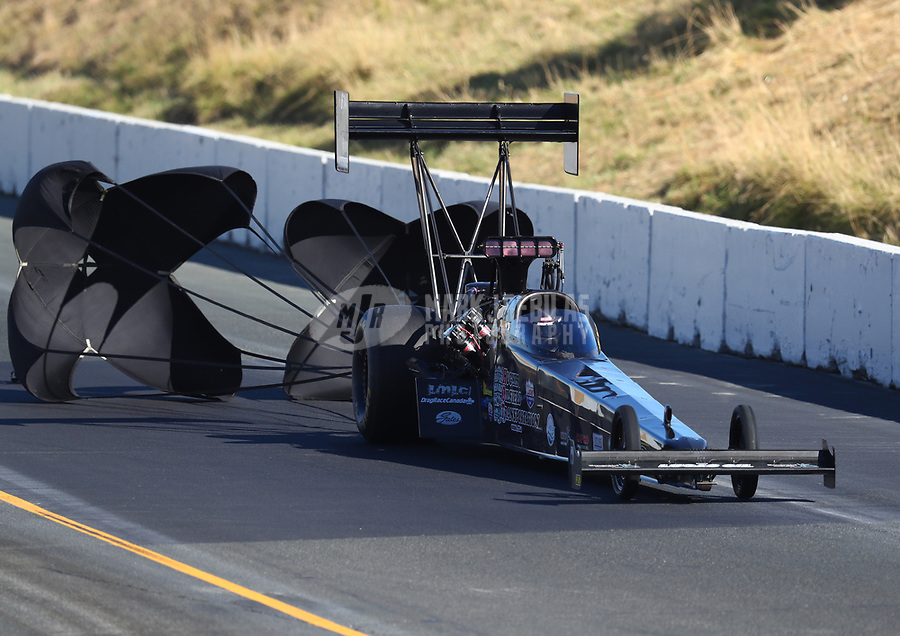 Jul 29, 2017; Sonoma, CA, USA; NHRA top fuel driver Shawn Reed during qualifying for the Sonoma Nationals at Sonoma Raceway. Mandatory Credit: Mark J. Rebilas-USA TODAY Sports