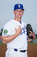Burlington Royals pitcher Alex Close (30) poses for a photo prior to the game against the Bluefield Blue Jays at Burlington Athletic Stadium on June 27, 2016 in Burlington, North Carolina.  The Royals defeated the Blue Jays 9-4.  (Brian Westerholt/Four Seam Images)