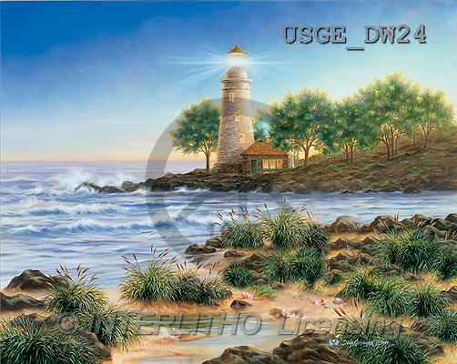 Dona Gelsinger, LANDSCAPES, paintings(USGEDW24,#L#) Landschaften, Schiffe, paisajes, barcos, llustrations, pinturas