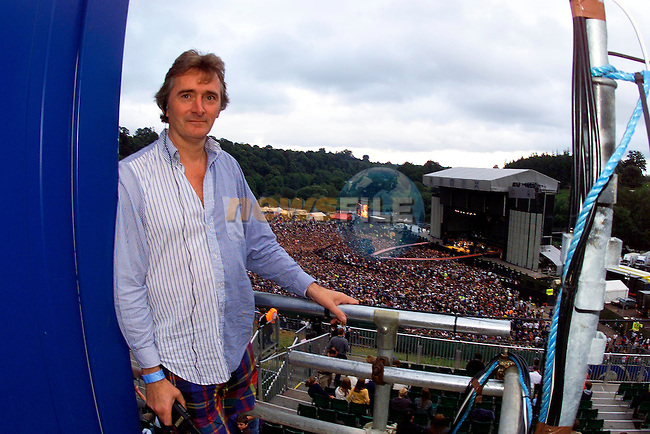 Lord Henry Mount Charles over looking the crowd at the U2 Concert in Slane Castle Yesterday.Pic Fran Caffrey Newsfile