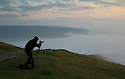 08/09/15<br /> <br /> ***WITH VIDEO***<br /> <br /> Photographers climb to the summit of Mam Tor before dawn to witness a cloud inversion as mist shrouds the lower lying land of the Derbyshire Peak District near Edale.<br /> <br /> All Rights Reserved: F Stop Press Ltd. +44(0)1335 418629   www.fstoppress.com.