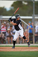 Tito Garcia during the WWBA World Championship at the Roger Dean Complex on October 18, 2018 in Jupiter, Florida.  Tito Garcia is a third baseman from Fort Myers, Florida who attends Southwest Florida Christian Academy.  (Mike Janes/Four Seam Images)