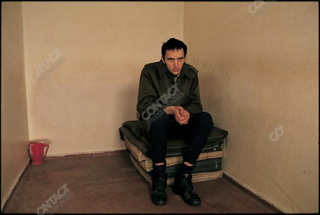 Convicted Serbian rapist and murderer, Borislav Herak, Sarajevo, Bosnia, February 1993