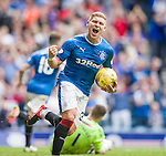 And the Ibrox goal machine celebrates in style