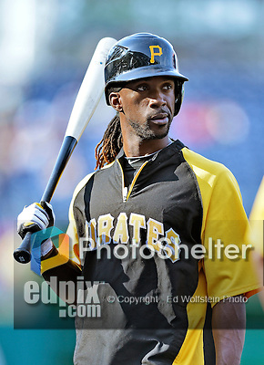 17 May 2012: Pittsburgh Pirates outfielder Andrew McCutchen awaits his turn in the batting cage prior to a game against the Washington Nationals at Nationals Park in Washington, DC. The Pirates defeated the Nationals 5-3 in the second game of their 2-game series. Mandatory Credit: Ed Wolfstein Photo