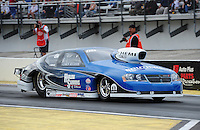 Mar. 10, 2012; Gainesville, FL, USA; NHRA pro stock driver Chris McGaha during qualifying for the Gatornationals at Auto Plus Raceway at Gainesville. Mandatory Credit: Mark J. Rebilas-