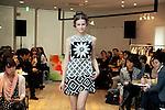 A model wearing Spanish fashion brand Desigual walks down the runway during the Desigual 2014 Spring & Summer Collection in Tokyo, Japan, November 18, 2013. (Photo by Rodrigo Reyes Marin/AFLO)