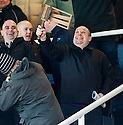 One fan at Dens Park with an old rattle that he definitely didn't get this Christmas.