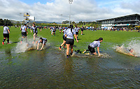 St Mary's players cool off after the 2017 1st XV rugby Top Four girls' final between St Mary's College and Hamilton Girls' High School at Sport and Rugby Institute in Palmerston North, New Zealand on Sunday, 10 September 2017. Photo: Dave Lintott / lintottphoto.co.nz