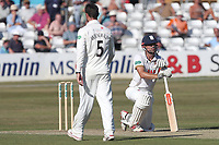 Frustration for Alastair Cook of Essex after Nick Browne is run out at the non-strikers end during Essex CCC vs Somerset CCC, Specsavers County Championship Division 1 Cricket at The Cloudfm County Ground on 25th June 2018