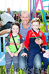 Ellen, Pat and Clodagh O'Mahony Glencar at the Treshing for Cancer in Beaufort on Sunday