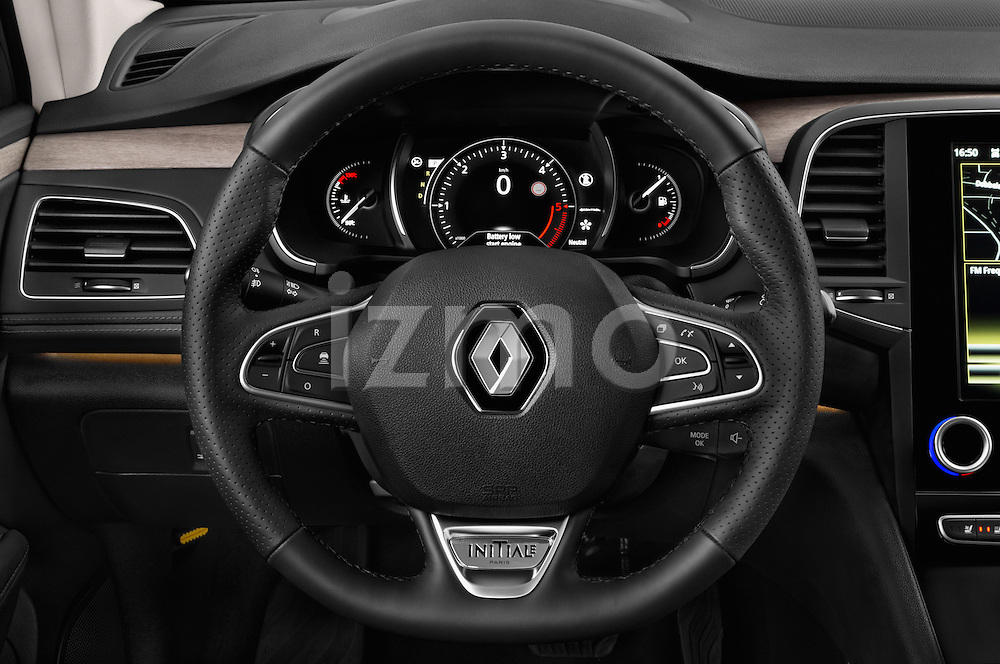 Car pictures of steering wheel view of a 2016 Renault Talisman Initiale-Paris 5 Door Wagon Steering Wheel
