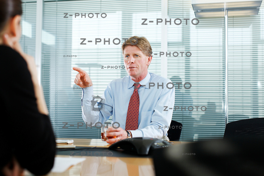 Interview mit Joe Hogan CEO, Chief Executive Officer von ABB Schweiz, ABB, Ltd im Hauptsitz in Oerlikon  am 30. September 2009...Copyright © Zvonimir Pisonic