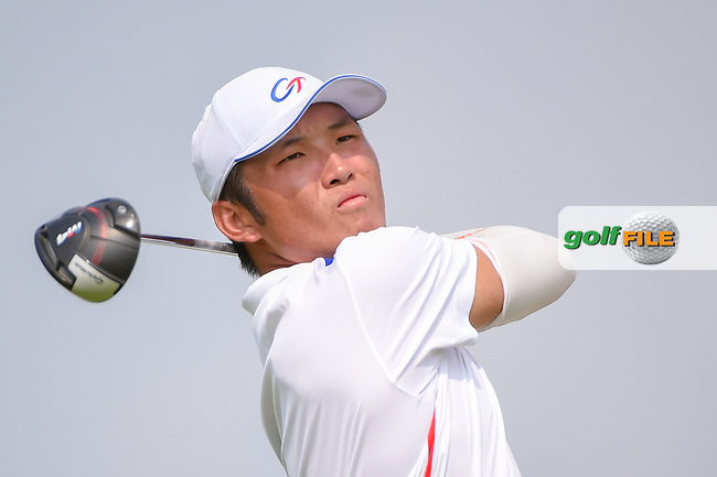 Yung-Hua LIU (TPE) watches his tee shot on 6 during Rd 3 of the Asia-Pacific Amateur Championship, Sentosa Golf Club, Singapore. 10/6/2018.<br /> Picture: Golffile   Ken Murray<br /> <br /> <br /> All photo usage must carry mandatory copyright credit (© Golffile   Ken Murray)