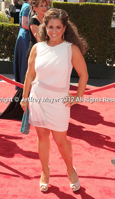 LOS ANGELES, CA - SEPTEMBER 15: Marissa Jaret Winokur arrives at the 2012 Primetime Creative Arts Emmy Awards at Nokia Theatre L.A. Live on September 15, 2012 in Los Angeles, California.