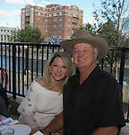 """Daphine MacLean and Robert Monroe during the """"Reno Taste"""" launch party  Tuesday, June 13, 2017 on the terrace of Campo Reno."""