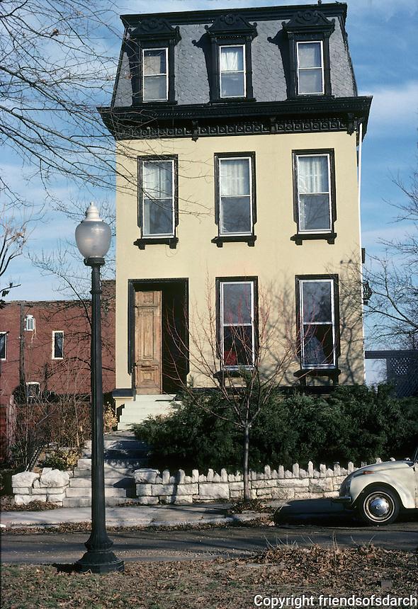 St. Louis: House, Benton Place. Photo '77.