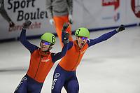 SCHAATSEN: DORDRECHT: Sportboulevard, Korean Air ISU World Cup Finale, 11-02-2012, Sjinkie Knegt NED (62), Freek van der Wart NED (63), ©foto: Martin de Jong