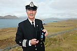 Tony Donnelly Officer In Charge(O.I.C.) Waterville Coast Guard Unit with his medal for 33 years service which was presented to him by Minister for Transport, Tourism & Sport, Mr Paschal Donohoe, T.D. on Thursday last at Valentia Radio Station.