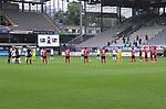 FussballFussball: agnph001:  1. Bundesliga Saison 2019/2020 27. Spieltag 23.05.2020<br /> SC Freiburg - SV Werder Bremen<br /> Die Mannschaften gedenken vor dem Spiel den Opfern der Corona Pandemie.<br /> FOTO: Markus Ulmer/Pressefoto Ulmer/ /Pool/gumzmedia/nordphoto<br /> <br /> Nur für journalistische Zwecke! Only for editorial use! <br /> No commercial usage!