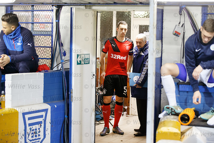 Lee Wallace gets set to lead the teams out at Cappielow