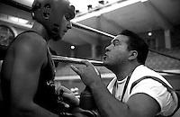 Roma .Il Maestro Massai con il pugile Emiliano Marsili (Civitavecchia)