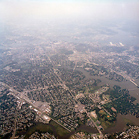 1998 September 05..Aerial..High altitude of census tracts around Elizabeth River in Portsmouth & Norfolk..Gene Woolridge.NEG# 11678 - 51.NRHA#..