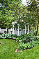 Gazebo & Garden Shed Stock Images