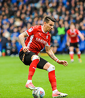Barnsley's midfielder Adam Hammill (7) cryuff turns during the Sky Bet Championship match between Sheff Wednesday and Barnsley at Hillsborough, Sheffield, England on 28 October 2017. Photo by Stephen Buckley / PRiME Media Images.