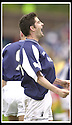 26/04/2003                   Copyright Pic : James Stewart.File Name : stewart-falkirk v ayr 12.STUART TAYLOR CELEBRATES SCORING FALKIRK'S SECOND.....James Stewart Photo Agency, 19 Carronlea Drive, Falkirk. FK2 8DN      Vat Reg No. 607 6932 25.Office     : +44 (0)1324 570906     .Mobile  : +44 (0)7721 416997.Fax         :  +44 (0)1324 570906.E-mail  :  jim@jspa.co.uk.If you require further information then contact Jim Stewart on any of the numbers above.........