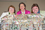 PROSTHETIC LIMBS: Breda O'Brien, Carmel Quilter-O'Neill and P. J. Houilhan of the Austin Stacks club with the thousands of ring pulls that were collected to help make prosthetic limbs for Thailand at the Stacks clubhouse on Thursday.