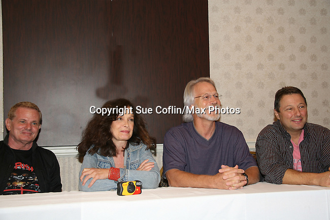 Thomas G. Waites, Deborah Van Valkenburgh, Michael Beck, Terry Michos - The Warriors - 30 years reunion during Q & A at the Super Megashow & Comic Fest on August 30, 2009 in Secaucus, New Jersey (Photo by Sue Coflin/Max Photos)