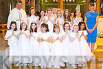 Pupils from Mary Hicksons class from Presentation primary, Tralee at Saint Johns church on Saturday..Front row: l to r,   Ellie Sugrue, Eve Akinyemi , Rosie Kennelly, Emma Fenix, Emily Poultney, Kerri O Connor, Lucy Howard, Isobel Fernandez..Back row l to r: Fr. Kieran O Brien, Sine?ad Murphy, Chloe Fitzpatrick, Chloe Quirke, Sarah Barrett, Molly Quane, Nicole Mongans and Mary Hickson..