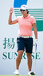 TAOYUAN, TAIWAN - OCTOBER 22: Yani Tseng of Taiwan acknowledges the crowd on the 1st tee during day three of the LPGA Imperial Springs Taiwan Championship at Sunrise Golf Course on October 22, 2011 in Taoyuan, Taiwan. Photo by Victor Fraile / The Power of Sport Images
