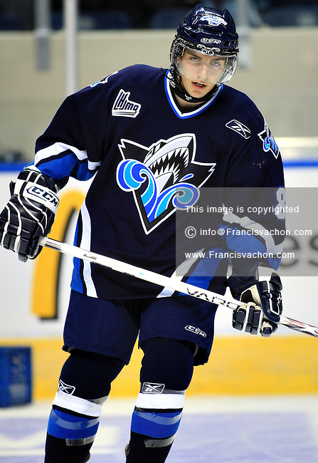 QMJHL (LHJMQ) hockey player profile photo on Rimouski Oceanic Patrick Delisle-Houde September 19, 2008 at the Colisee Pepsi in Quebec city.