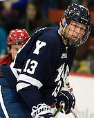 Matthew Beattie (Yale - 13) - The Yale University Bulldogs defeated the Harvard University Crimson 5-1 on Saturday, November 3, 2012, at Bright Hockey Center in Boston, Massachusetts.