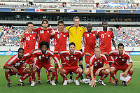 Canada (CAN) starting XI. Honduras (HON) defeated Canada (CAN) 1-0 during a quarterfinal match of the CONCACAF Gold Cup at Lincoln Financial Field in Philadelphia, PA, on July 18, 2009.