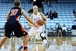 05 November 2014: North Carolina's Megan Buckland (right) and Carson-Newman's Allison Hodge (30). The University of North Carolina Tar Heels hosted the Carson-Newman University Eagles at Carmichael Arena in Chapel Hill, North Carolina in an NCAA Women's Basketball exhibition game. UNC won the game 88-27.
