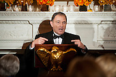 Governor Gary Herbert (Republican of Utah), Chairman, National Governors Association, offers remarks during a National Governors Association dinner and reception in the State Dining Room of the White House in Washington, D.C., U.S., on Sunday, Feb. 21, 2016. <br /> Credit: Pete Marovich / Pool via CNP